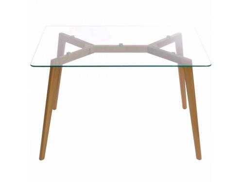 Clear Glass Table w Oak Wood Legs Kitchen Dining Room  : 2 from www.ebay.co.uk size 500 x 375 jpeg 20kB