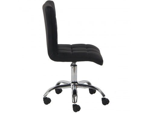 Swivel Office Chair Adjustable PU Leather Small Home ...